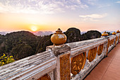 Plateau of Tiger Cave Mountain at sunset, Tiger Cave Temple, Krabi Town, Thailand