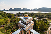 View from Wat Laem Sak - temple on Phang Nga Bay, Laem Sak. Krabi region, Thailand