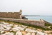 Fortaleza de Peniche - light fog fortress, Peniche, Portugal