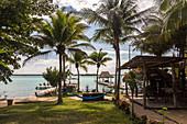 Am Ufer der Lagune von Bacalar, Quintana Roo, Yucatan Halbinsel, Mexiko