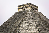 "Pyramid of Kukulcan - Largest Mayan temple on the site of ""Chichen Itza"", Yucatan Peninsula, Mexico"