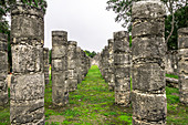 "Ancient temple ruins in the grounds of ""Chichen Itza"", Yucatan Peninsula, Mexico"