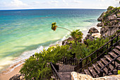 Playita Tortuga Beach on Coast of Tulum Ruins, Quintana Roo, Yucatan Peninsula, Mexico