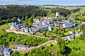 Aerial view of Reiifferscheid, Eifel, North Rhine-Westphalia, Germany