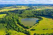 Aerial view of the Immerather Maars, Eifel, Rhineland-Palatinate, Germany