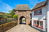 City gate of Reiifferscheid, Eifel, North Rhine-Westphalia, Germany