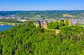 Die Burg Rheineck bei Bad Breisig, Eifel, Rheintal, \nRheinland-Pfalz, Deutschland