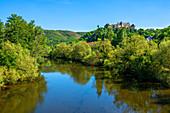 Nahe with Ebernburg, Bad Kreuznach, Nahetal, Rhineland-Palatinate, Germany