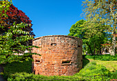 Tower of the city wall, Trier, Moselle, Rhineland-Palatinate, Germany