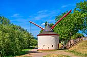 Historic Moselle crane, Trier, Moselle, Rhineland-Palatinate, Germany