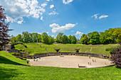 Roman amphitheater, Trier, Moselle, Rhineland-Palatinate, Germany