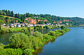 Moselle in the center of Trier, Rhineland-Palatinate, Germany