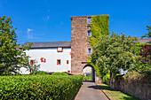 Gate of the city walls of Pfalzel, Trier, Mosel, Rhineland-Palatinate, Germany