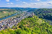 Aerial view of Niederburg in Kobern-Gondorf, Moselle, Rhineland-Palatinate, Germany