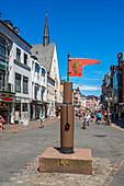 Pillory near the main market, Trier, Moselle, Rhineland-Palatinate, Germany