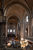 Interior view of the cathedral, Trier, Moselle, Rhineland-Palatinate, Germany