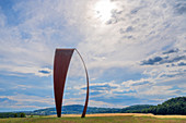 The word sail sculpture by artist Heinrich Popp near Sotzweiler, Saarland, Germany