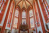 Interior view of the Wendelinusbasilika in St. Wendel, Saarland, Germany