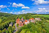 Luftaufnahme des Steyeler Missionshauses in St. Wendel, Saarland, Deutschland