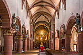 Interior view of St. Peter in Merzig, Saarland, Germany