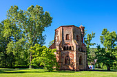 The old tower in Mettlach, Saarland, Germany