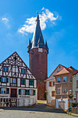 Historic market square of Ottweiler, Saarland, Germany