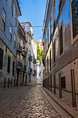 Narrow back streets of Lisbon, Portugal