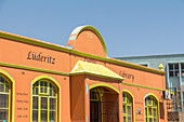 Restored colorful houses from the German colonial era in the center of Lüderitz, Namibia