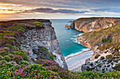 Gorge in the sunset at Cap Frehel Brittany