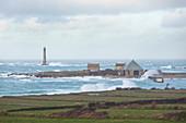 Hafen von Goury im Sturm, Nordspitze des Cotentin, Normandie, Frankreich