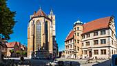 St. Jakobskirche in Rothenburg ob der Tauber, Bayern, Deutschland