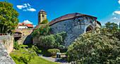 Spitalbastei in Rothenburg ob der Tauber, Bayern, Deutschland