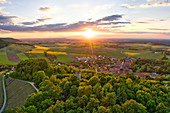 Aerial view of Castell, Kitzingen, Lower Franconia, Franconia, Bavaria, Germany, Europe