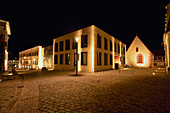 At night in the old town of Iphofen, Kitzingen, Lower Franconia, Franconia, Bavaria, Germany, Europe