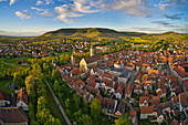 View of the old town of Iphofen, Kitzingen, Lower Franconia, Franconia, Bavaria, Germany, Europe
