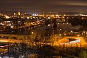 Nachts in Kitzingen am Main, Unterfranken, Franken, Bayern, Deutschland, Europa