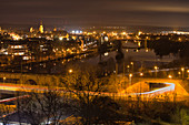 At night in Kitzingen am Main, Lower Franconia, Franconia, Bavaria, Germany, Europe