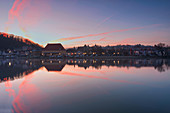 Sunrise over Marktbreit am Main, Kitzingen, Lower Franconia, Franconia, Bavaria, Germany