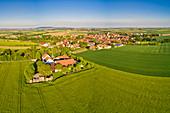 Luftbild von Gnodstadt, Marktbreit, Kitzingen, Unterfranken, Franken, Bayern, Deutschland, Europa