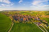 Luftbild von Mönchsondheim, Kitzingen, Unterfranken, Franken, Bayern, Deutschland, Europa