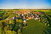 Luftbild von Possenheim, Kitzingen, Unterfranken, Franken, Bayern, Deutschland, Europa