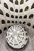 France, Rhone, Lyon, Celestins square, the car park designed by Michel Targe, Daniel Buren and Jean Michel Willmotte (1994)