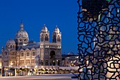 France, Bouches du Rhone, Marseille, Mucem and the Cathedral of Major