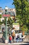 France, Paris, place Daumesnil, the metro