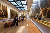 France, Rhone, Lyon, historical site listed as World Heritage by UNESCO, Palais Saint Pierre, Musee des Beaux Arts (Fine Art Museum)t, hall of the paintings of the XVIIth century