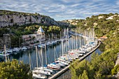 France, Bouches-du-Rhône, National park of Calanques, Cassis, marina of the creek of Port Miou