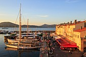 France, Var, Gulf of Saint Tropez, Saint Tropez, port, quai Jean jaures