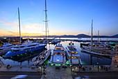 France, Var, Gulf of Saint Tropez, Saint Tropez, the port, Quai Gabriel Peri