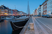 Nyhavn, Copenhagen, Hovedstaden, Denmark, Northern Europe.