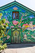 Murales in Christiania, Copenhagen, Hovedstaden, Denmark, Northern Europe.